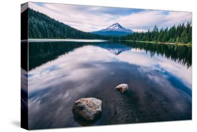 Mount Hood and Clouds in Reflection, Trillium Lake Wilderness Oregon