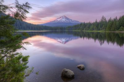 Mount Hood Reflected in Beautiful Trillium Lake by Vincent James