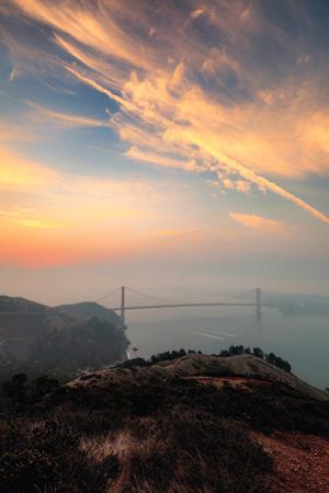 My City Was Gone Smoky Sunrise Summer Golden Gate San Francisco Bay by Vincent James