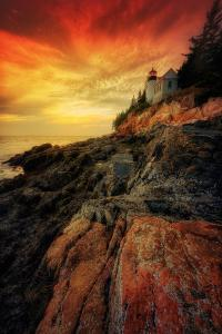 Mystical Bass Harbor Lighthouse, Acadia National Park by Vincent James