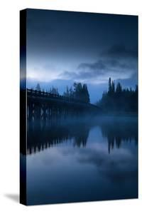 Mystical Morning at Fishing Bridge Fog Mist Works Yellowstone National Park Wyoming by Vincent James
