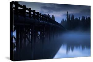 Mystical Morning Fog Mist at Fishing Bridge Works Yellowstone National Park Wyoming by Vincent James