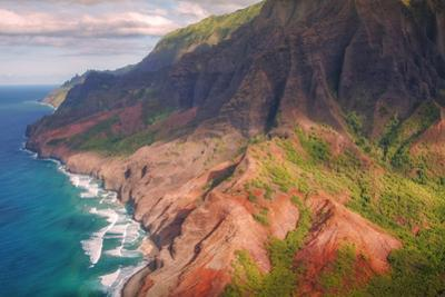 Na Pali Coast and Late Afternoon Light by Vincent James