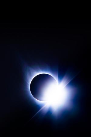 Near Total Solar EclipseDiamond Ring Blue Earth Sun Moon August 2017 by Vincent James