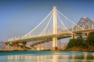 New and Old East Span, Bay Bridge by Vincent James