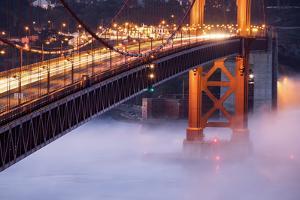 Night Travels Across Golden Gate Bridge, San Francisco California Travel by Vincent James