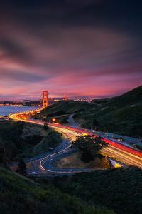 Night Trip Over The Golden Gate Bridge, San Francisco by Vincent James