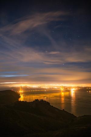 Night View Classic  Golden Gate Bridge San Francisco by Vincent James