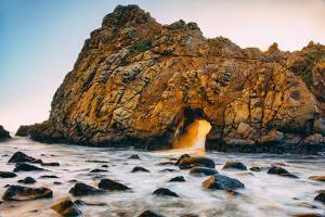 Ocean Door and Golden Light, Big Sur California Coast by Vincent James