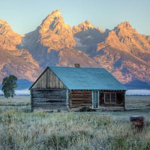 Old Cabin at Mormon Row, Wyoming by Vincent James