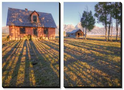 Old Mormon House and Long Shadows, Wyoming