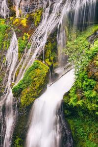 Panther Creek Falls Detail, Columbia River Gorge, Washington by Vincent James