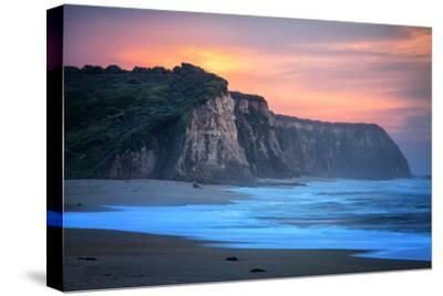 Peaceful Fire Sunset Sky Near Santa Cruz, California Coast by Vincent James