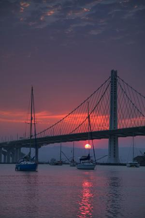 Perfect Sunrise Caught Under East Span Bay Bridge Oakland Bay Area by Vincent James
