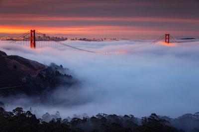 Perfection Alignment Low Fog Sunrise Burn Transamerica San Francisco by Vincent James
