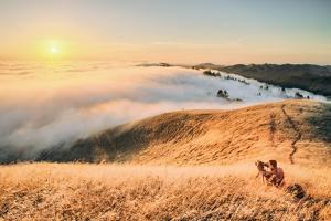 Photographer Sunset and Approaching Fog, San Francisco California by Vincent James