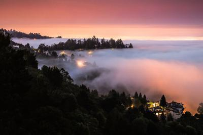 Pre Dawn Fog in the Oakland East Bay Hills San Francisco Bay Area by Vincent James
