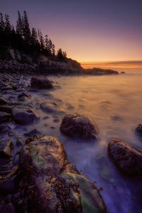 Pre Dawn Seascape, Atlantic Coast, Maine, Acadia National Park by Vincent James