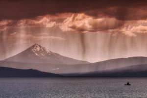Rainfall at Klamath Lake by Vincent James