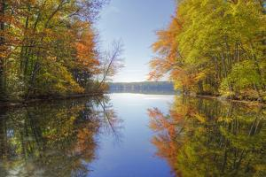 Reflections at Little Squam Lake, Holderness New Hampshire by Vincent James