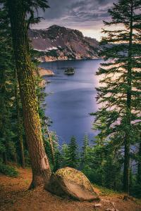 Rim Shot with Phantom Ship, Crater Lake National Park, Oregon by Vincent James