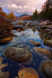 Rocky River in Autumn, Pemigewasset River, New Hampshire, New England by Vincent James