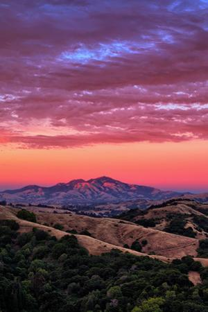 Rugged Diablo at Sunset Sky Magic East Bay Hills California by Vincent James