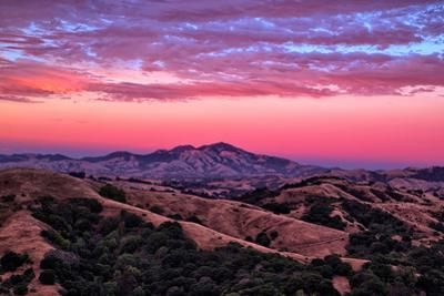 Rugged Red Skies Over Mount Diablo, Walnut Creek California by Vincent James