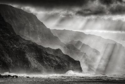 Sacred Light and Mist at Na Pali Coast, Kauai Hawaii by Vincent James