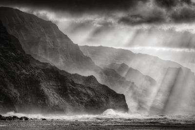 Sacred Light and Mist at Na Pali Coast, Kauai Hawaii