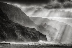 Sacred Light and Mist at Na Pali Coast, Kauai Hawaii by Vincent James