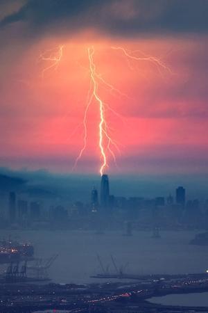 Sales Force of Nature Bay Area Lightning Storm San Francisco by Vincent James