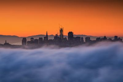 Salesforce Tower In Progress at Sunrise Cityscape San Francisco by Vincent James