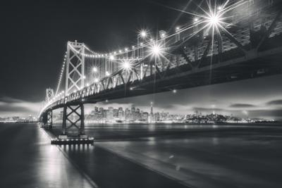 San Francisco Cityscape in Black and White, Bay Bridge by Vincent James