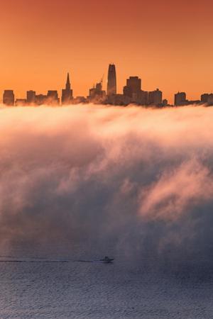 San Francisco Floating Above Fog Boas in the Bay Sunrise Skyline by Vincent James