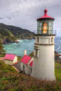 Scene at Haceta Head Lighthouse, Oregon Coast by Vincent James