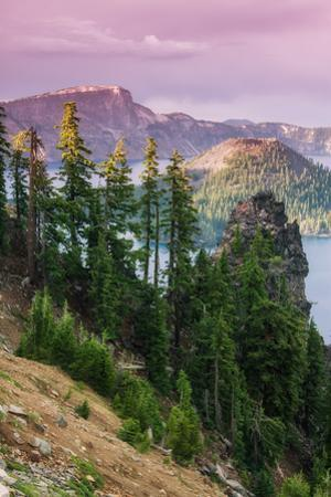 Scene at the Mysterious Wizard Island, Crater Lake Oregon by Vincent James