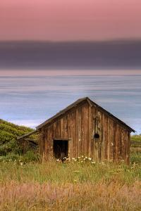 Sea Shack and Watermelon Sky by Vincent James