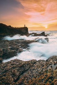 Setting Sunscapet at Montaña de Oro, Morro Bay California Coast by Vincent James