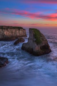 Shark Tooth Sunset, Santa Cruz, California Coast by Vincent James