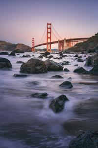 Simple Peaceful Morning Shore, Golden Gate Bridge, San Francisco by Vincent James