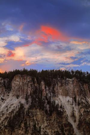 Sky Paint Grand Canyon of the Yellowstone Sunset Clouds Wyoming by Vincent James