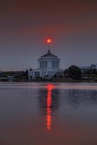 Smokey Sun over Alameda Court House, by Vincent James