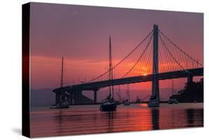Smoky Sunrise Glow at East Span Bay Bridge Boats Harbor Oakland Treasure Island by Vincent James