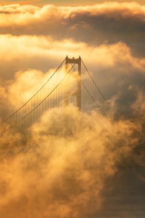 Smoky Wonder Golden Gate in Swarm of Fog San Francisco California by Vincent James
