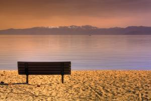South Tahoe Lakeside Morning by Vincent James