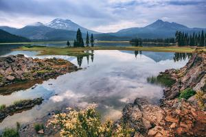 Spring Morning Light at Sparks Lake, Bend Oregon by Vincent James