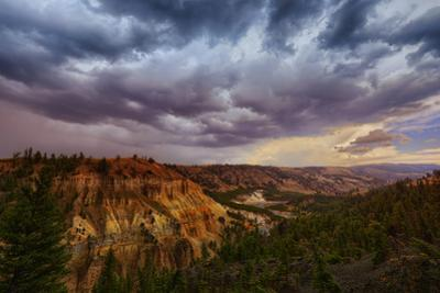 Storm Tower Drama & Clouds Near Roosevelt Yellowstone National Park by Vincent James