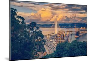 Stormy Afternoon at Bay Bridge East Span California by Vincent James