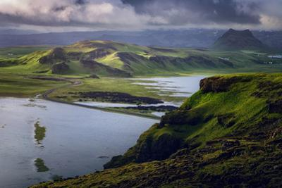 Stormy Dyrhólaey View Southern Iceland Summer Dyrholaey by Vincent James